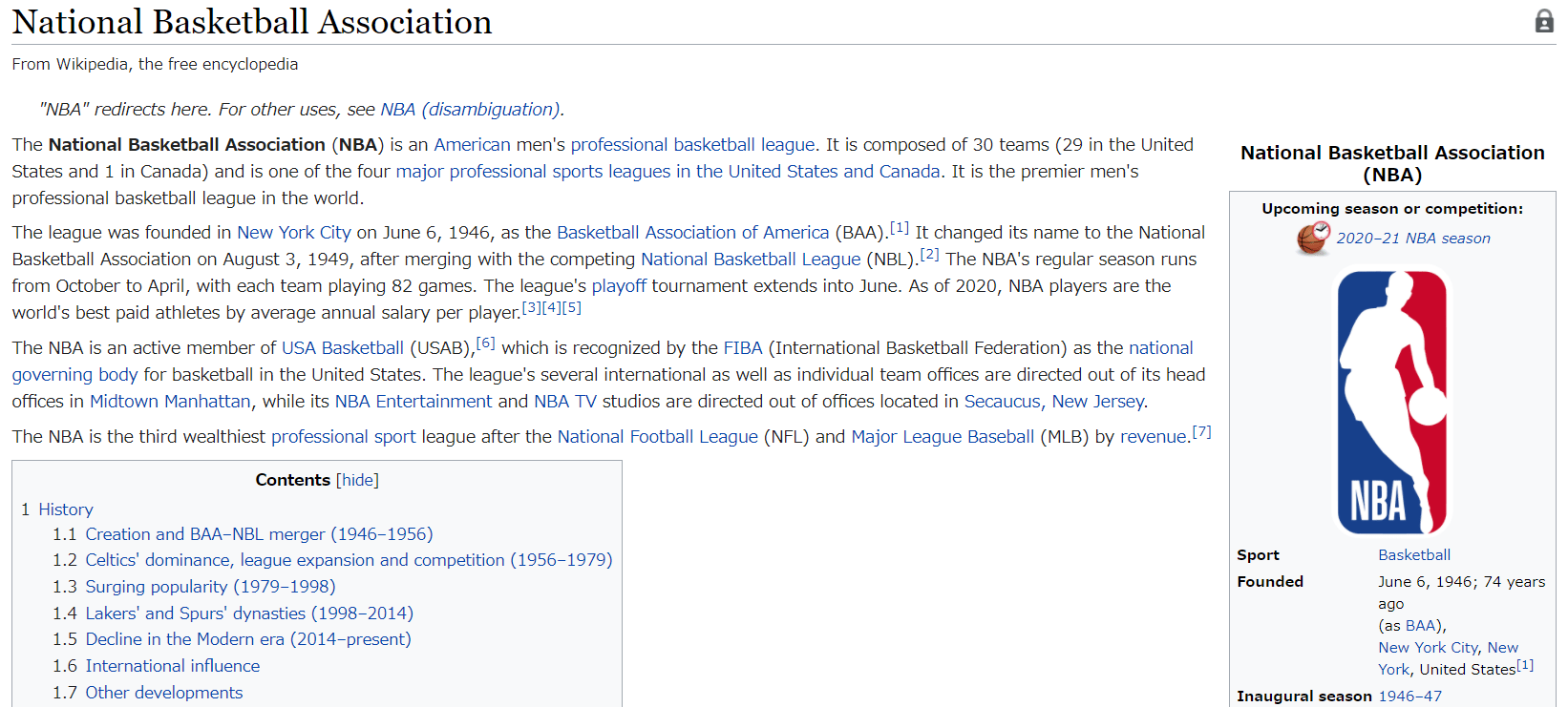 NBA wikipedia
